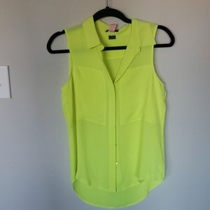 bright yellow theory top